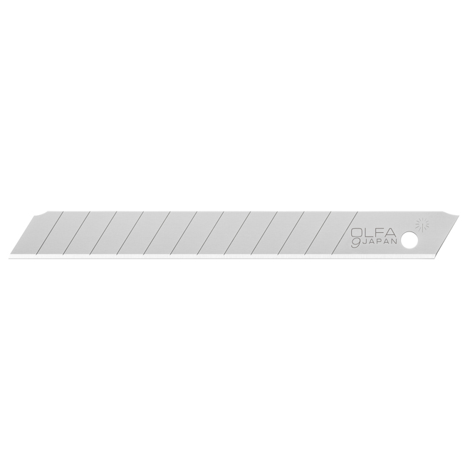 OLFA Standard Replacement Blades - Carbon Steel - 0.25 po x 3.1 po - 10/Pack