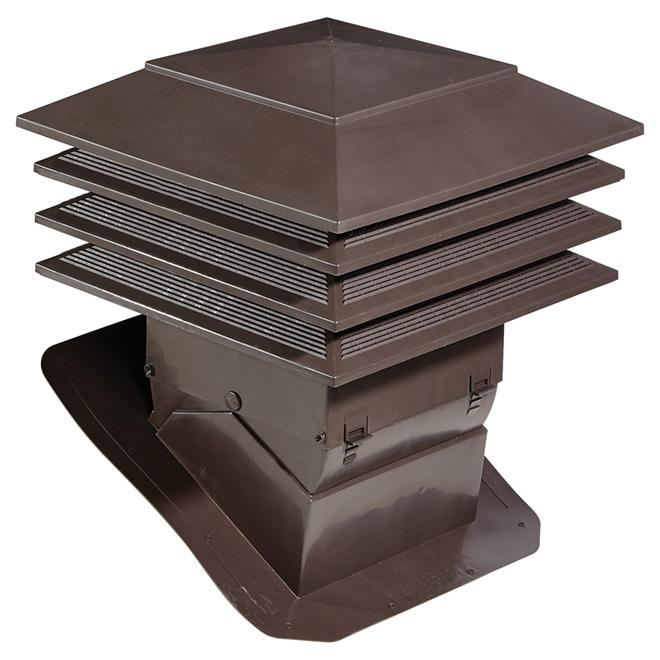 """Ventilateur de toit, 21,1"""" x 21,1"""" x 22"""", brun"""