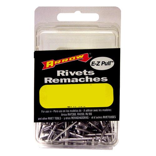 Rivets courts en aluminium blanc de 1/8''