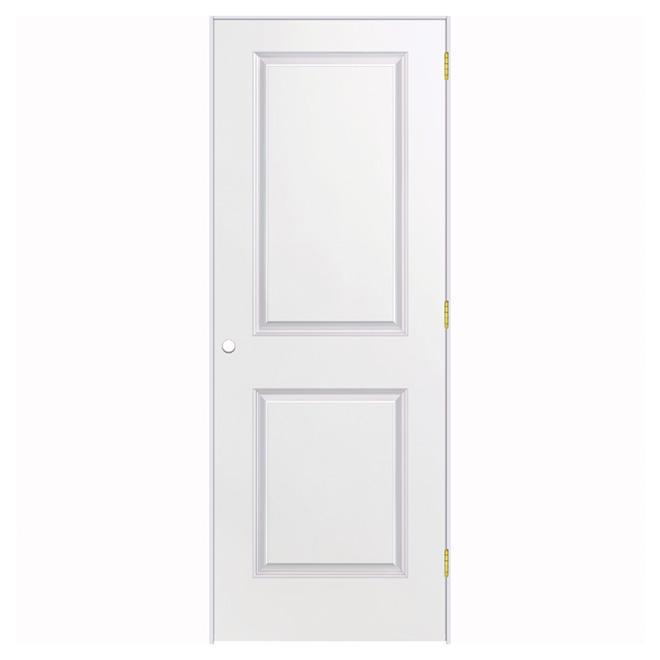 Porte prémontée à 2 panneaux, 28'' x 80'', apprêt