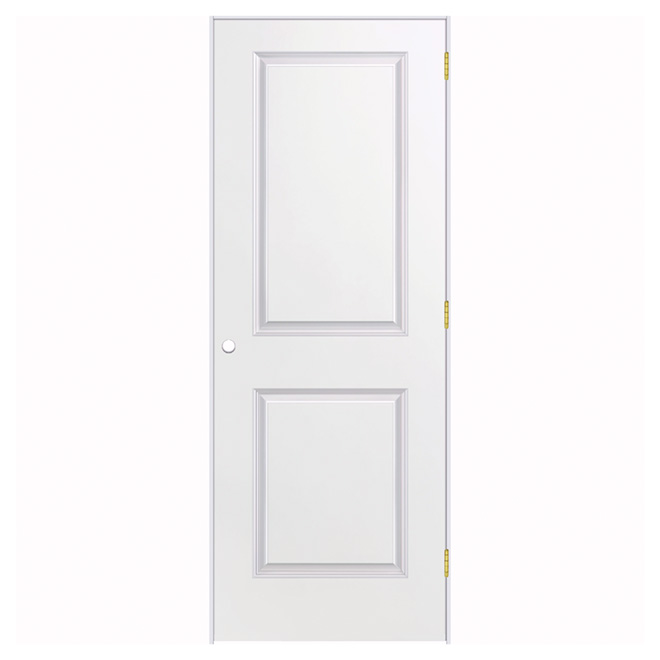 Porte prémontée à 2 panneaux, 36'' x 80'', apprêt