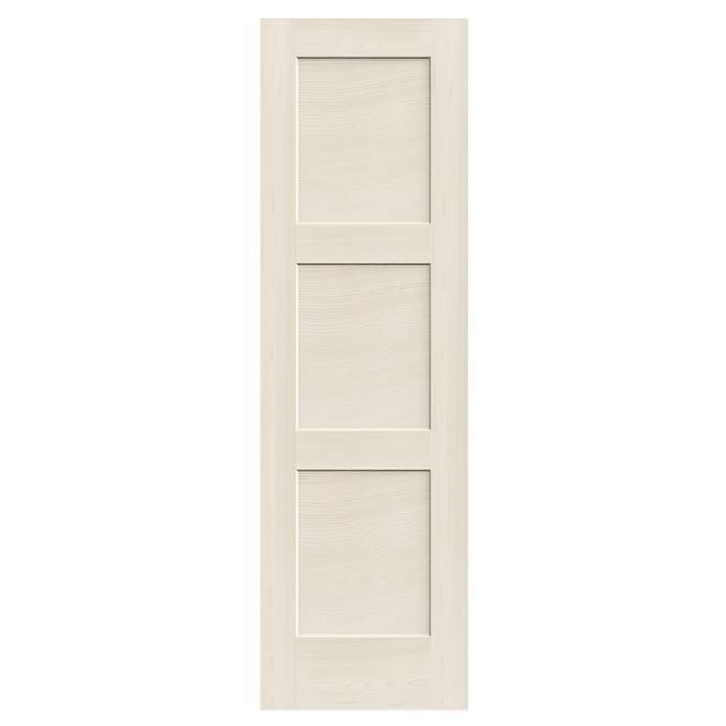 Porte intérieure à 3 panneaux « Shaker » 24 po