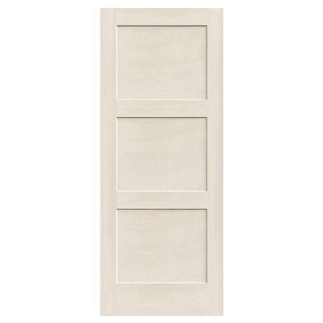 Porte intérieure à 3 panneaux « Shaker » 32 po