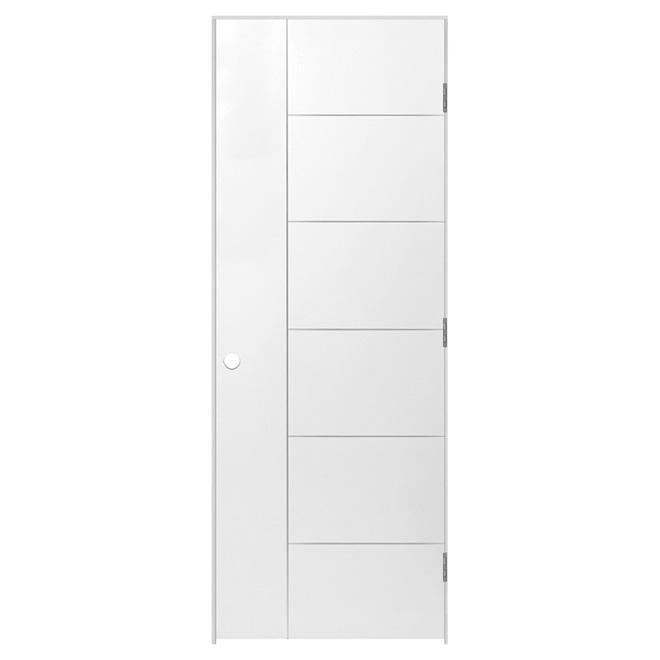 """Berkley Prehung Door - Left - Primed - 32"""" x 80"""" x 13/8"""""""