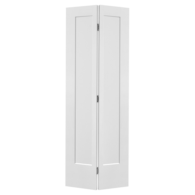 "Lincoln Park 1 Panel Bifold Door - Primed - 30"" x 80"""