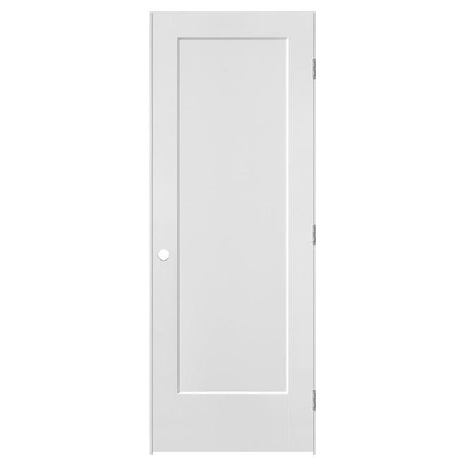 1 Panel Door Lincoln Park Prehung - Right - Primed MDF - 24 in x 80 in x 1 3/8 in
