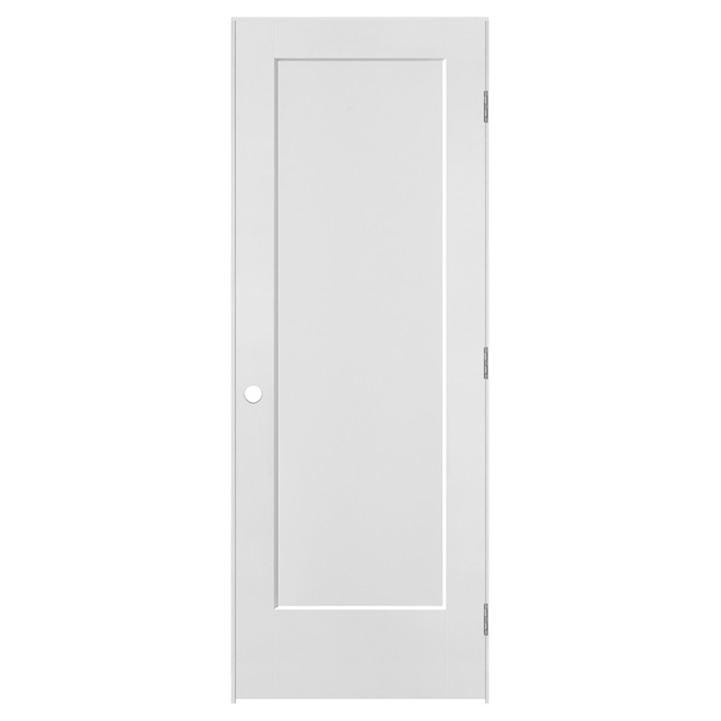 Pre-hung Molded 1-Panel Door - Right - Primed MDF - 30 in x 80 in x 1 3/8 in