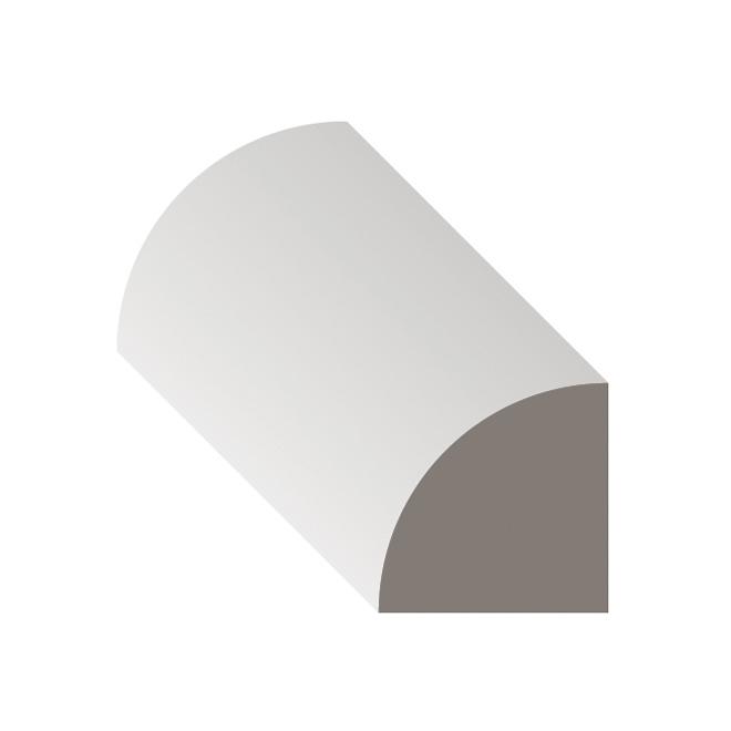 Moulure quart de rond en MDF apprêté par Metrie, 12 pi x 11/16 po x 11/16 po