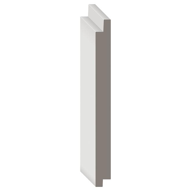 """Déclin en MDF Metrie Complete(MD), 5 1/2"""" x 8', blanc"""