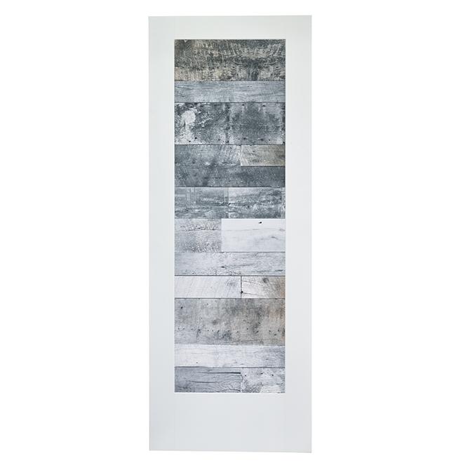 """Barn Wood Look Kincoln Door - 30 """"x 80"""" - Primed"""