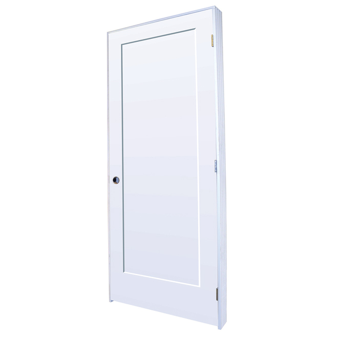 Lincoln Park Prehung Door - Left - Primed MDF - 30 in x 80 in x 1 3/8 in