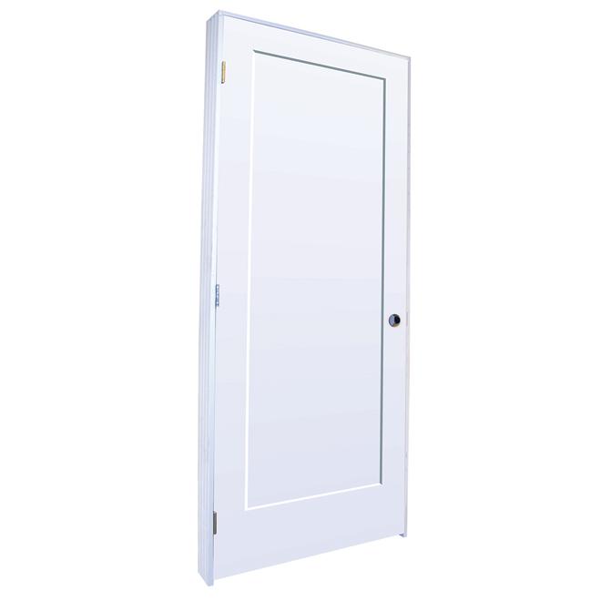 Lincoln Park Prehung Door - Right - Primed MDF - 30 in x 80 in x 1 3/8 in