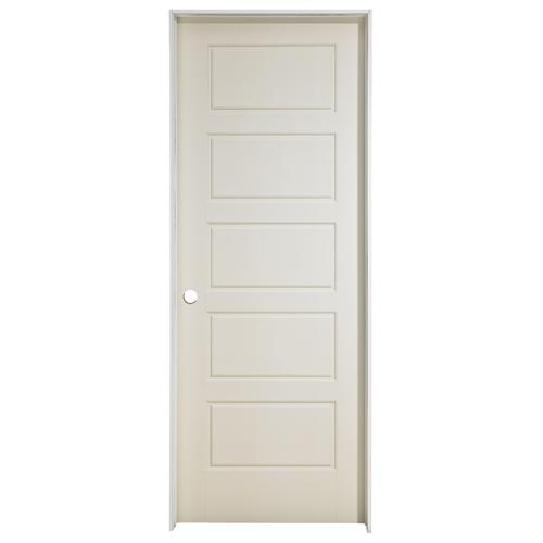 Riverside Prehung Door - Left - Primed - 30 in x 80 in x 1 3/8 in
