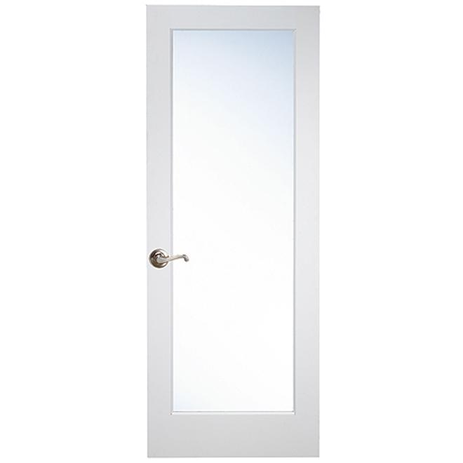 """Porte d'intérieur «Shaker», 30"""" x 80"""", apprêt blanc"""
