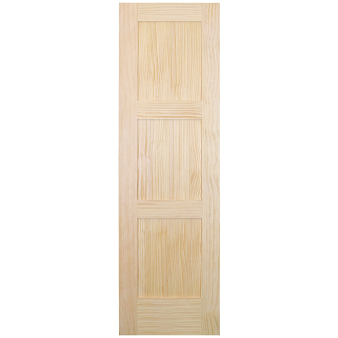 Metrie Interior Door - Hollow Core - Rustic Style - Natural Clear Pine - 3-Panels