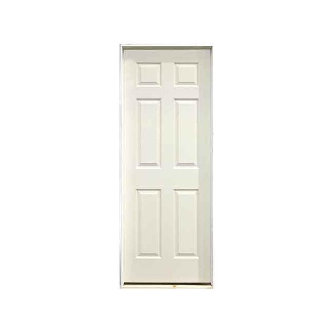 Metrie Prehung Door - Hardboard - 6 Square Panels - Left-Hand - 36-in