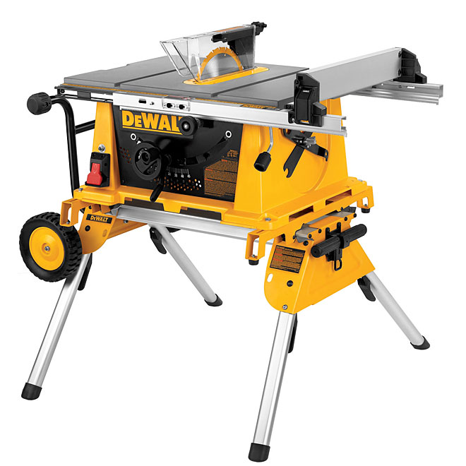 "Table Saw with Stand - 10"" - 15 A"