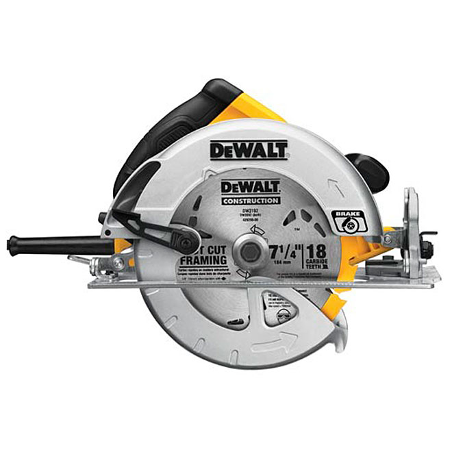 "Lightweight Circular Saw with Electric Break - 7 1/4"" - 15 A"