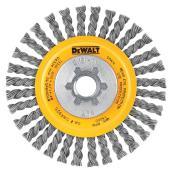Brosse circulaire à fils noués en acier carbone argent de 4