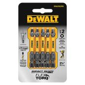 "Impact Ready(TM) Square Screwdriver Bits - #2 x 2"" - 5/Pack"