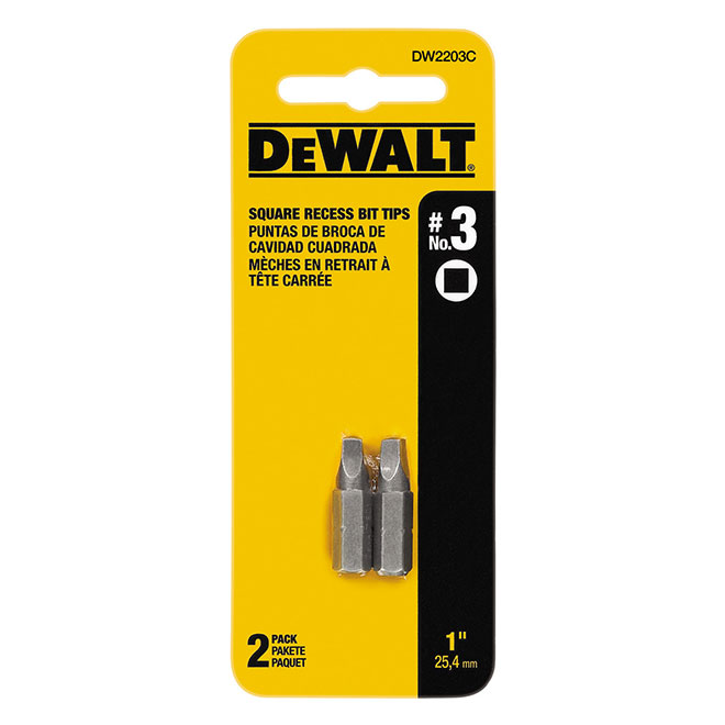"Impact Ready(TM) Square Screwdriver Bits - #3 x 1"" - 2/Pack"