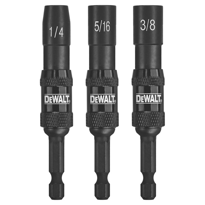 Impact Ready Pivoting Nut Drivers Set - 3 Pieces