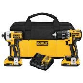 Impact Driver and Drill - Lithium-Ion - 20 V - Yellow/Black