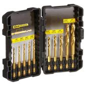 Titanium Drill Bit Set - Impact Ready - 10 Pieces