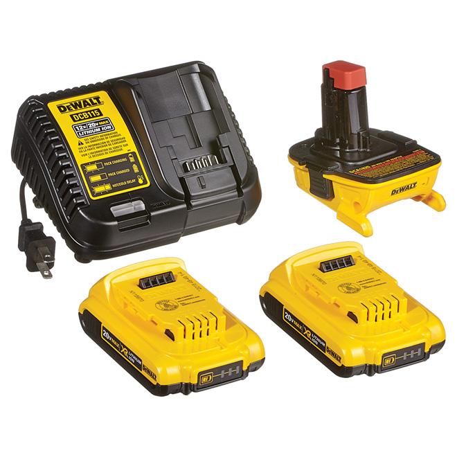Ensemble d'adaptateur de batterie 18 V-20 V