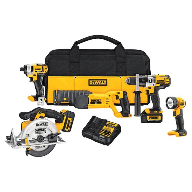 Ensemble d'outils sans fil 5 pièces, 20 V, 11 pièces