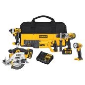 Cordless 5-Tool Set - 20V - 11 Pieces
