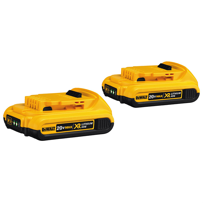 Piles Lithium-Ion, Compact XR, 20V, ensemble de 2