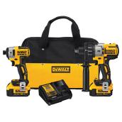 Cordless Impact Driver and Hammer Drill Set - 20V - 9 Pieces