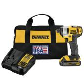 "Dewalt Impact Drill Kit - Lithium Ion Battery - 1/4"" - 20 V"