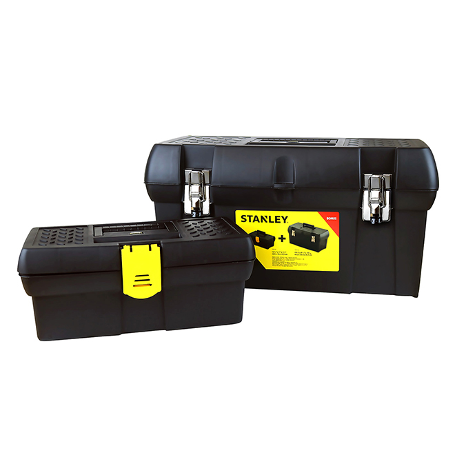 """Set of 2 Toolbox Plastic - 12,5"""" and 19"""""""