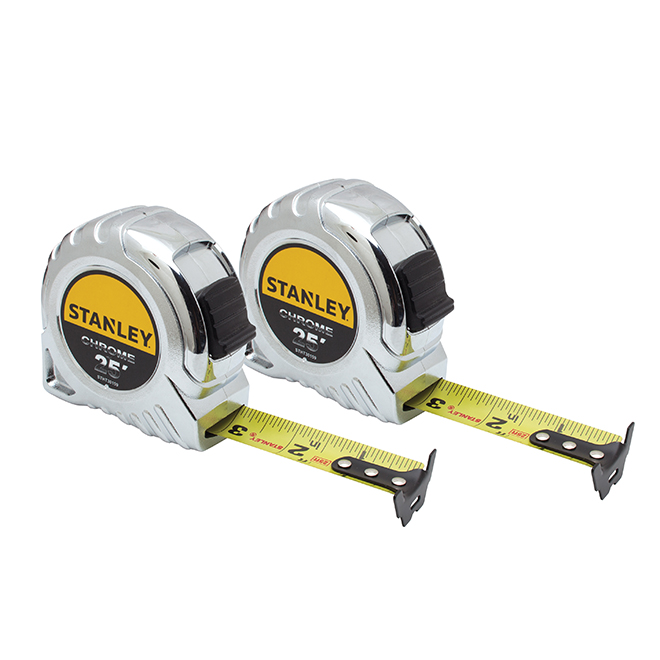 "Tape Measures Set - 1"" x 25' - 2 Pack"