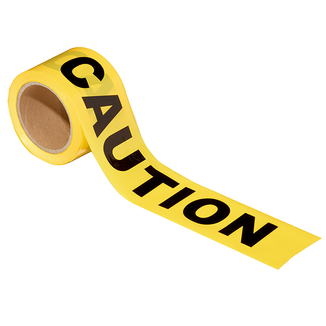 """Caution safety tape - 3"""" x 300' - Yellow"""