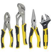 Ensemble de 4 pinces, jaune et noir