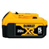 Ensemble de batteries DeWalt XR 20 V Max pour outils électriques, 5,0 A, 2/pqt