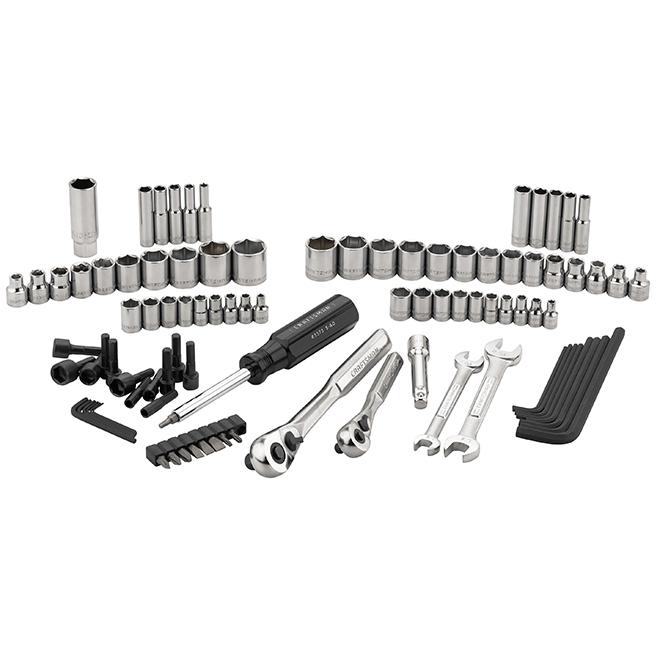 Ensemble d'outils pour mécanicien, acier, 95morceaux