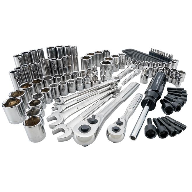 Ensemble d'outils pour mécanicien, acier, 118morceaux