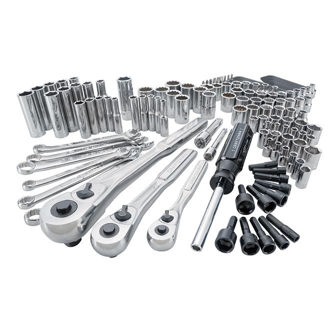 Ensemble d'outils pour mécanicien, acier, 137morceaux