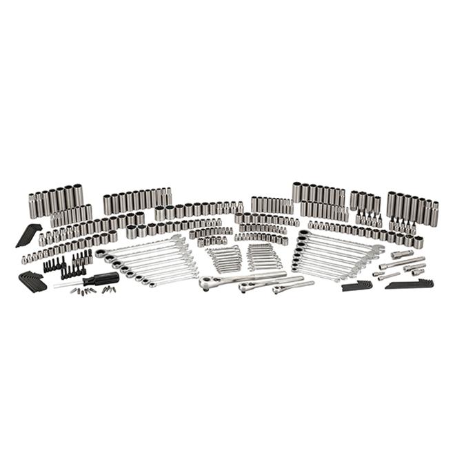 Ensemble d'outils pour mécanicien, acier, 309morceaux