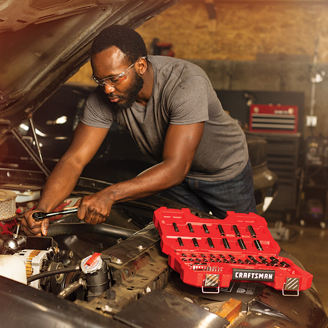 Craftsman Mechanics Tool Set - Steel - 51 Pieces