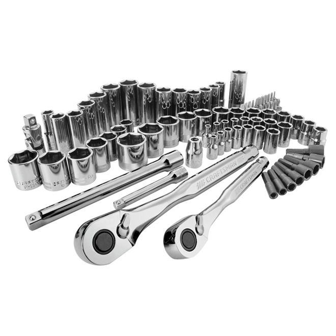 Mechanics Tool Set - Steel - 81 Pieces