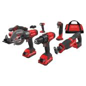 6 Cordless Tools Kit - 2 V20 Batteries - 1 Charger