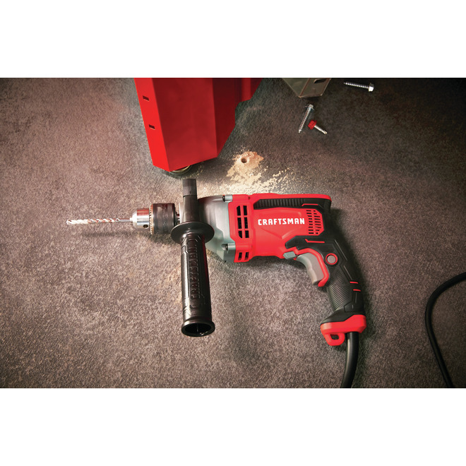 Hammer Drill - 1 Speed - 7 A - 3100 RPM - Red/Black
