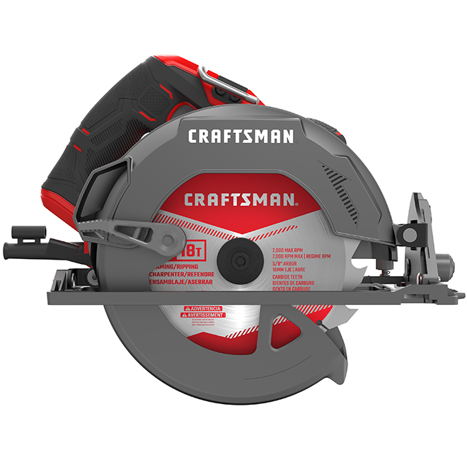 "Circular Saw - 7 1/4"" Blade with 18 Teeth - 15 A - Black/Red"