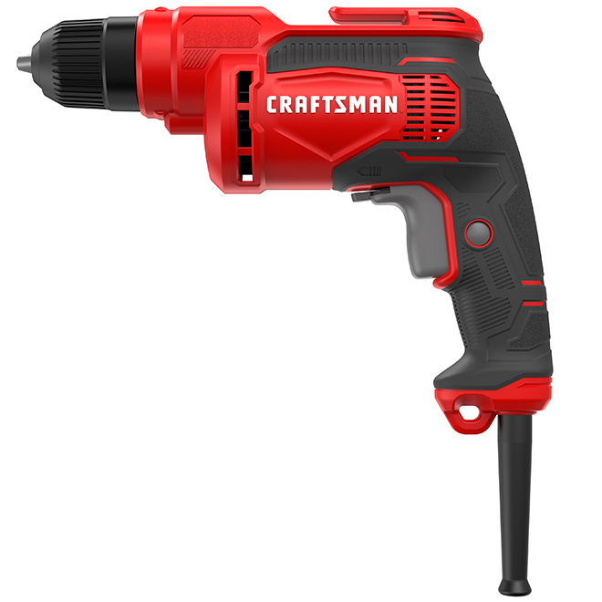 Perceuse à fil mandrin sans clé 3/8 po de Craftsman, moteur 7 A, 2500 tr/min, gâchette verrouillable