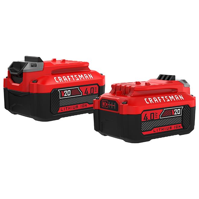 V20 Battery - Lithium Ion - 20 V - 4 Ah - 2PK